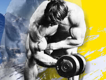 Austrian Alps – Biceps Training with a Pinch of Philosophy, Arnold's way