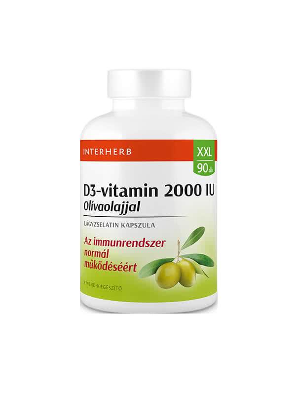 Interherb XXL Vitamin D3 2000 IU 90 g.c.