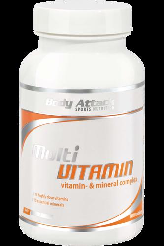 Body Attack Multi Vitamin 100 tab.