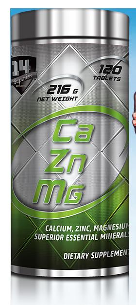 Superior 14 Calcium Zinc Magnesium 120 tab.