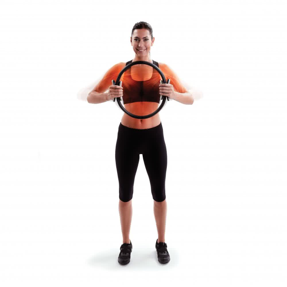 66 Fit Pilates Double Handle Ring 38cm