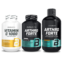 BioTech USA Arthro Guard + Liquid + Vitamin C 1000 (set)