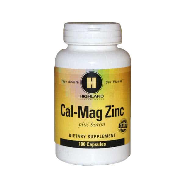 Highland Cal-Mag Zinc + Boron 100 caps