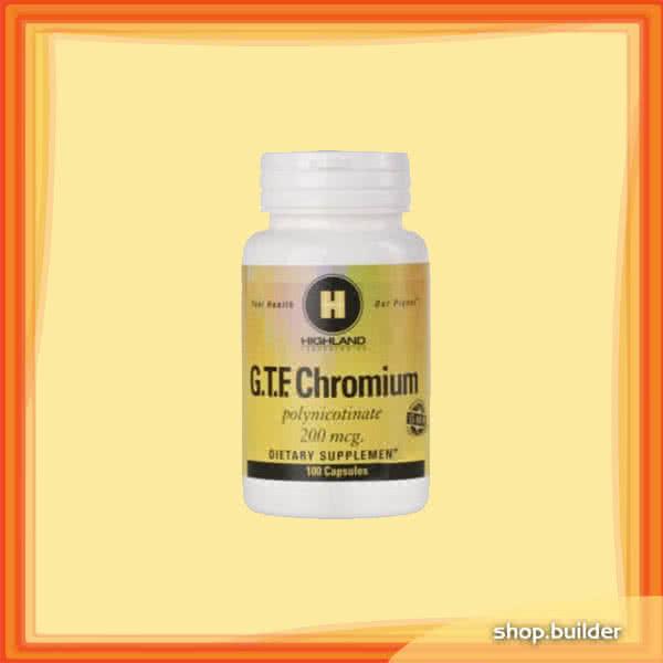 Highland Chromium Polynicotinate 100 caps
