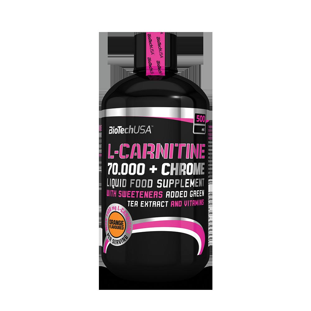 BioTech USA L-Carnitine Liquid 70.000 +Chrome 0,5 lit.