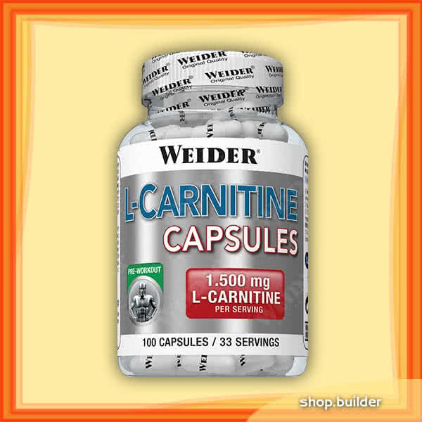 Weider Nutrition L-Carnitine Capsules 100 caps