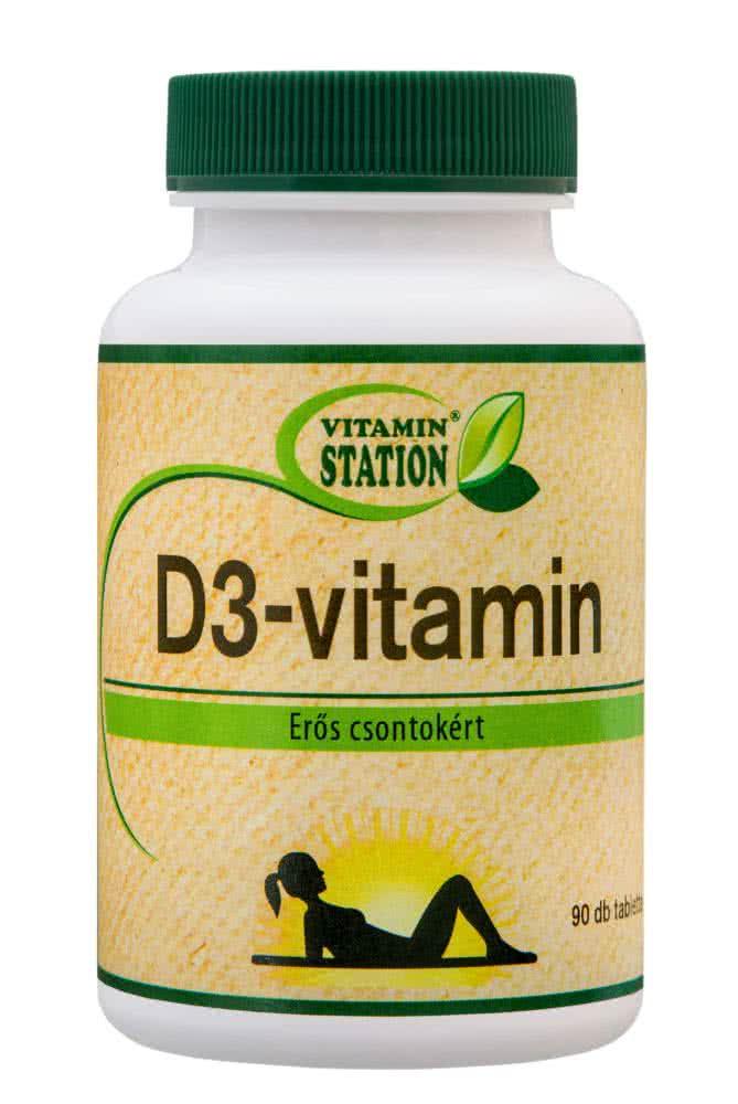 Vitamin Station D3 Vitamin 90 tab.